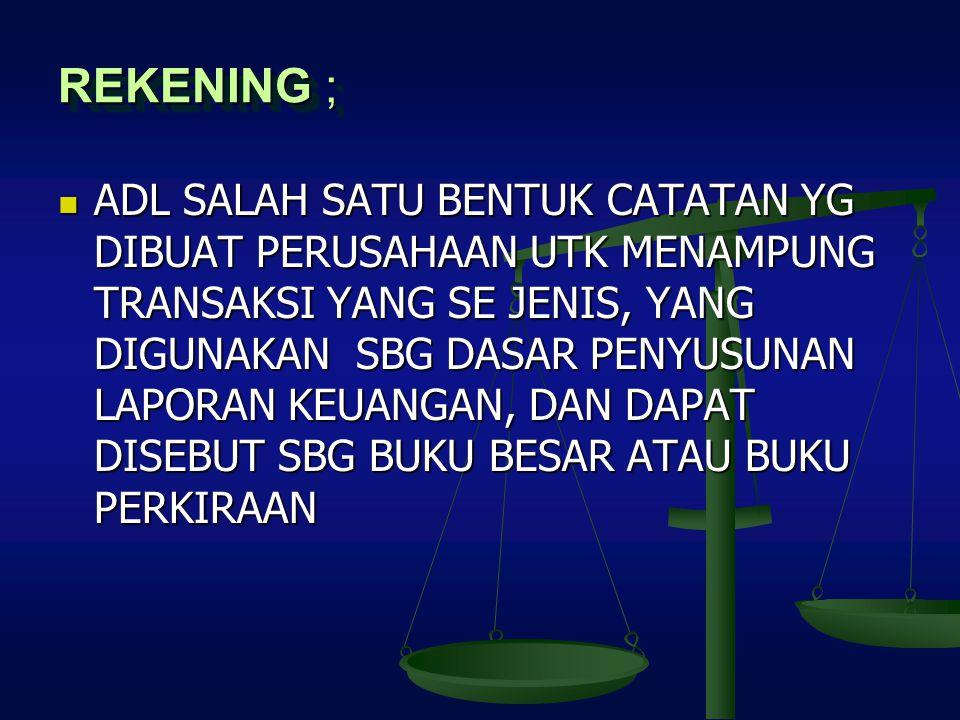 REKENING ;