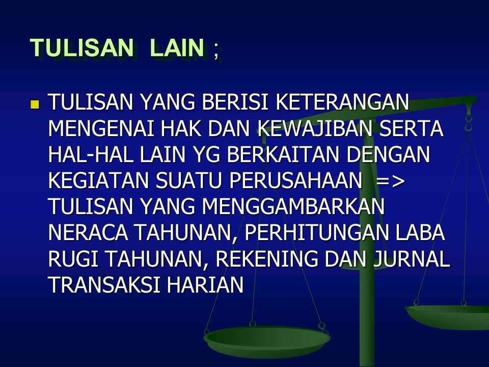 TULISAN LAIN ;