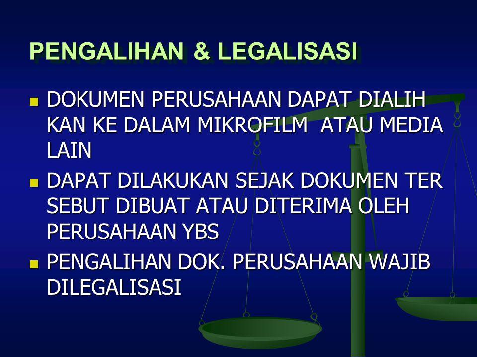 PENGALIHAN & LEGALISASI