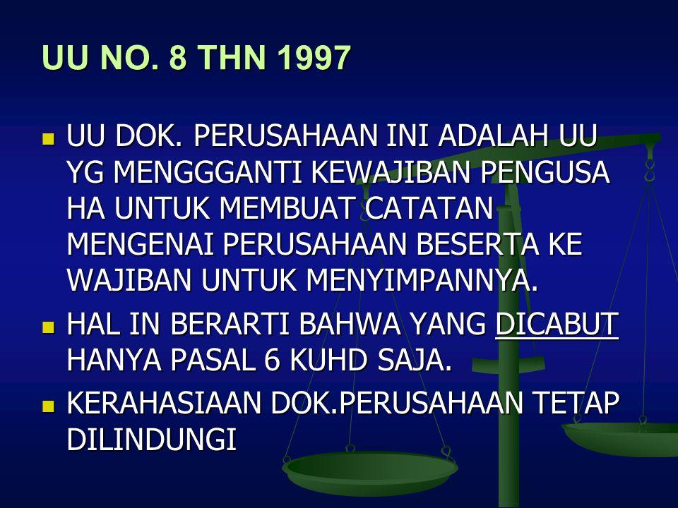 UU NO. 8 THN 1997