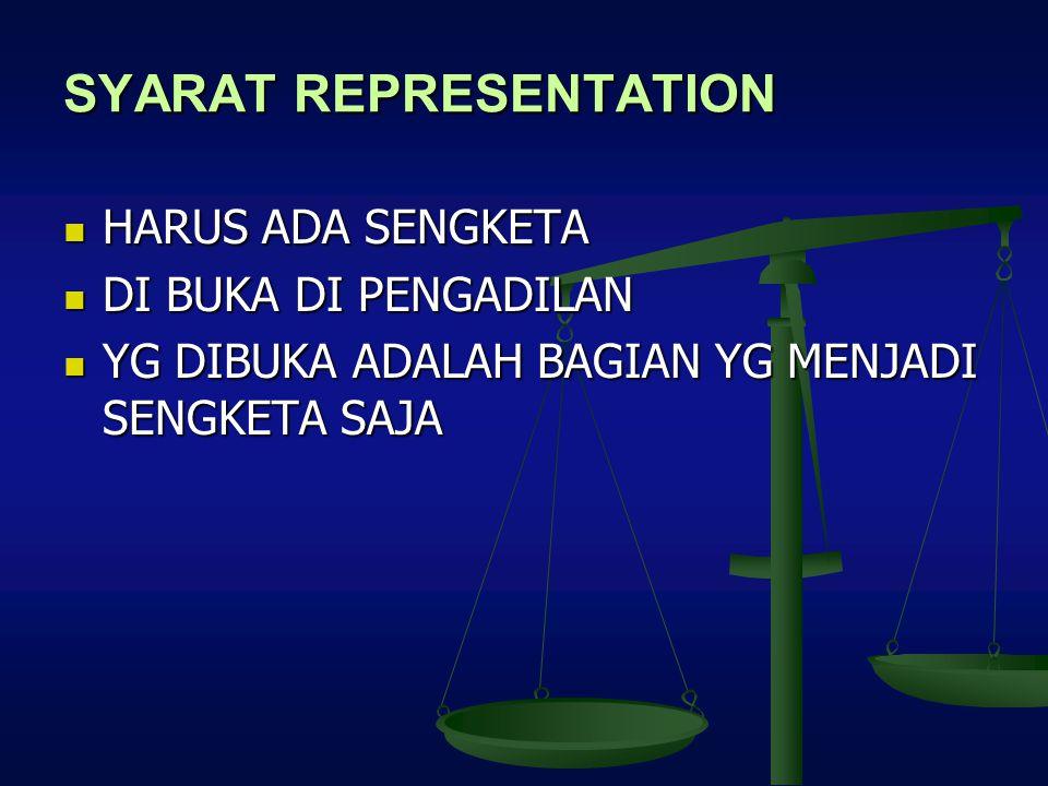 SYARAT REPRESENTATION
