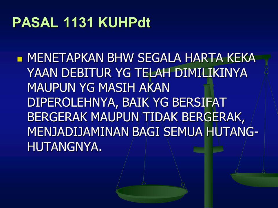 PASAL 1131 KUHPdt