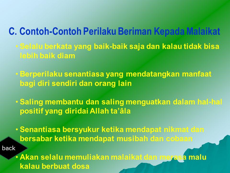 C. Contoh-Contoh Perilaku Beriman Kepada Malaikat