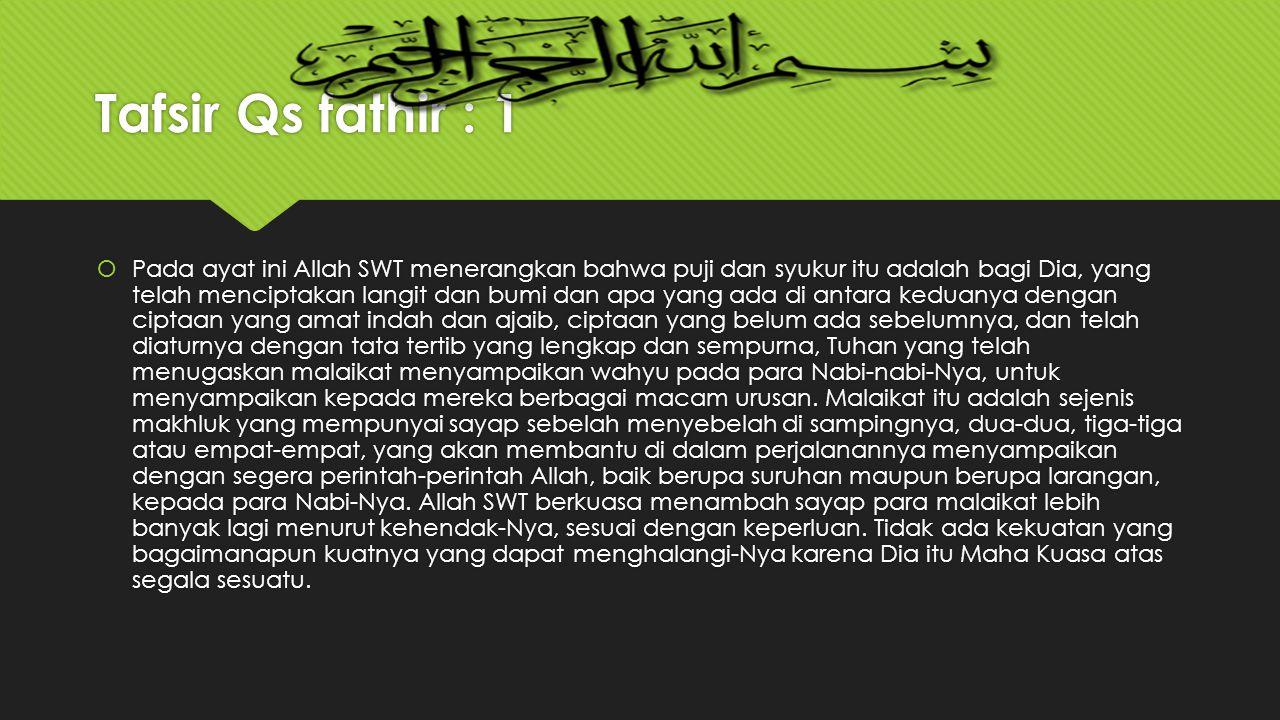 Tafsir Qs fathir : 1