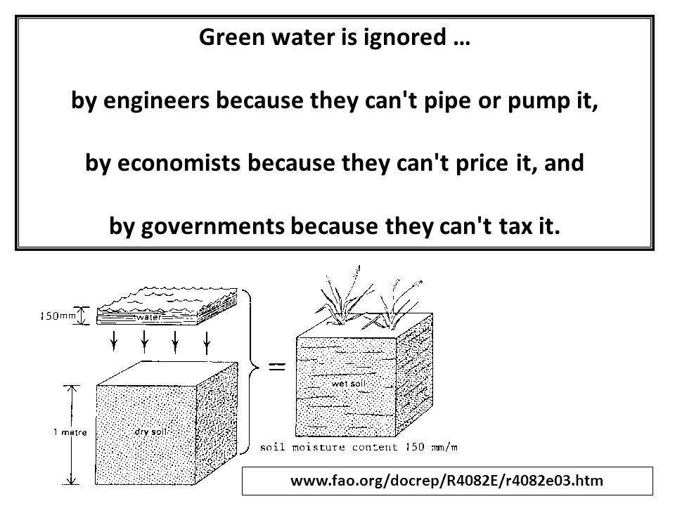 Green water is ignored …