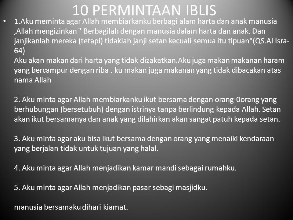 10 PERMINTAAN IBLIS