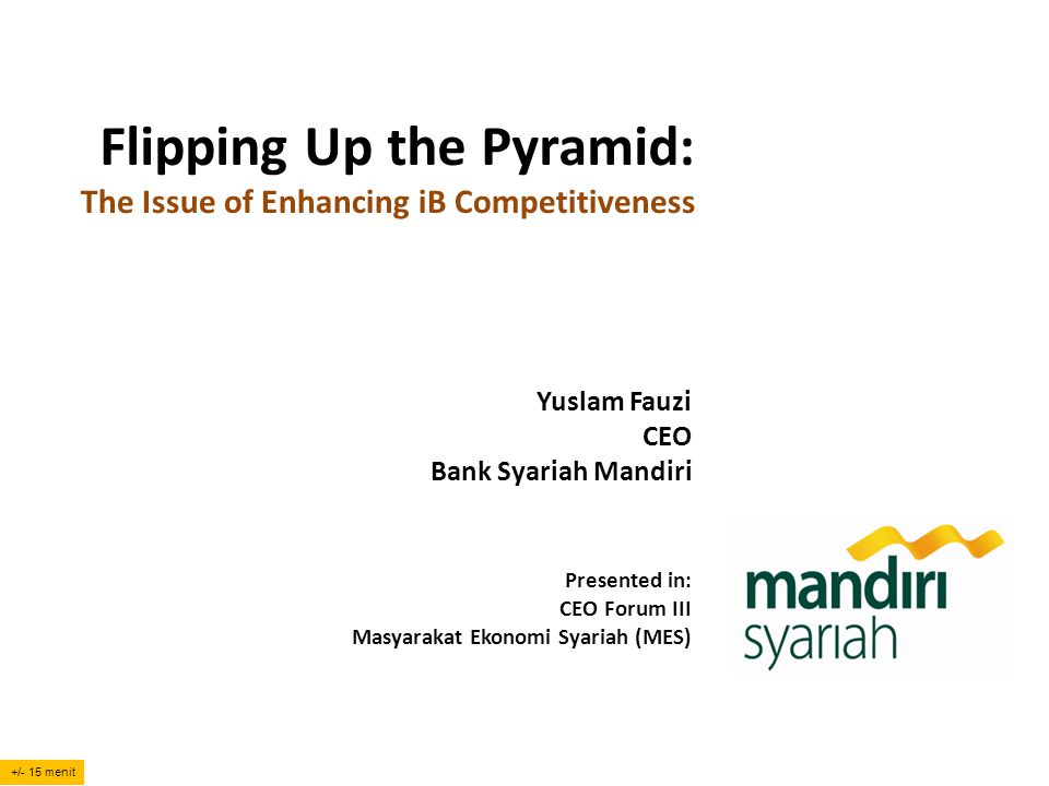 Flipping Up the Pyramid: