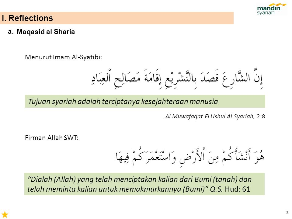Tujuan syariah adalah terciptanya kesejahteraan manusia