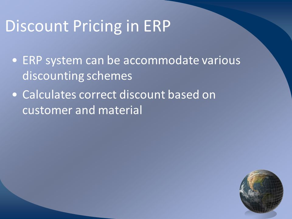 Discount Pricing in ERP