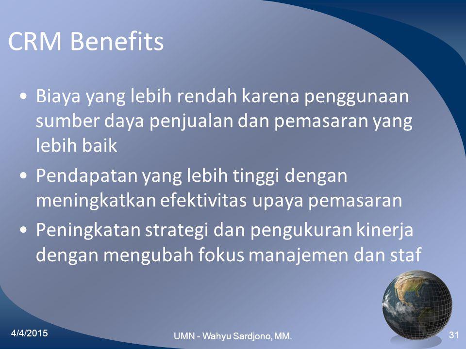 CRM Benefits Biaya yang lebih rendah karena penggunaan sumber daya penjualan dan pemasaran yang lebih baik.