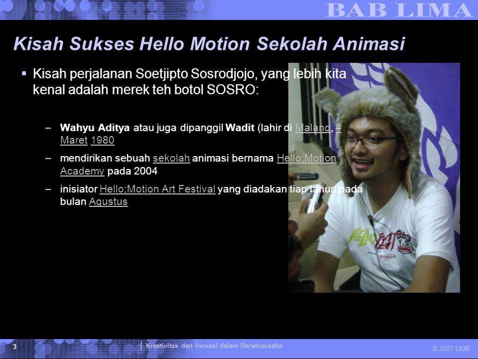 Kisah Sukses Hello Motion Sekolah Animasi