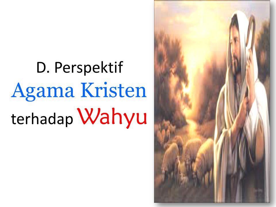 D. Perspektif Agama Kristen terhadap Wahyu