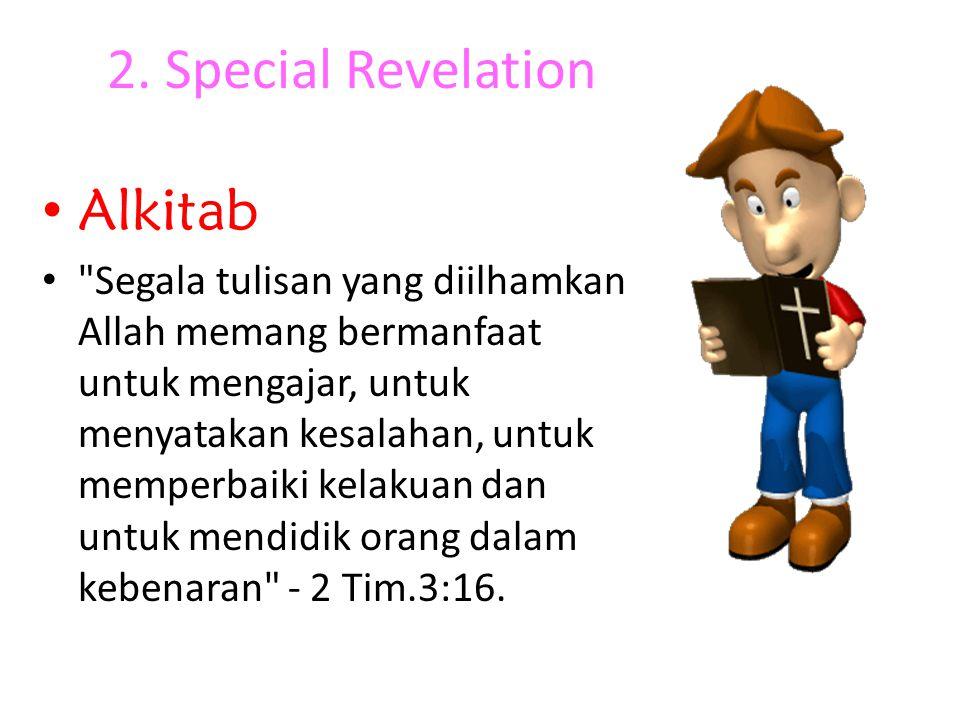 2. Special Revelation Alkitab