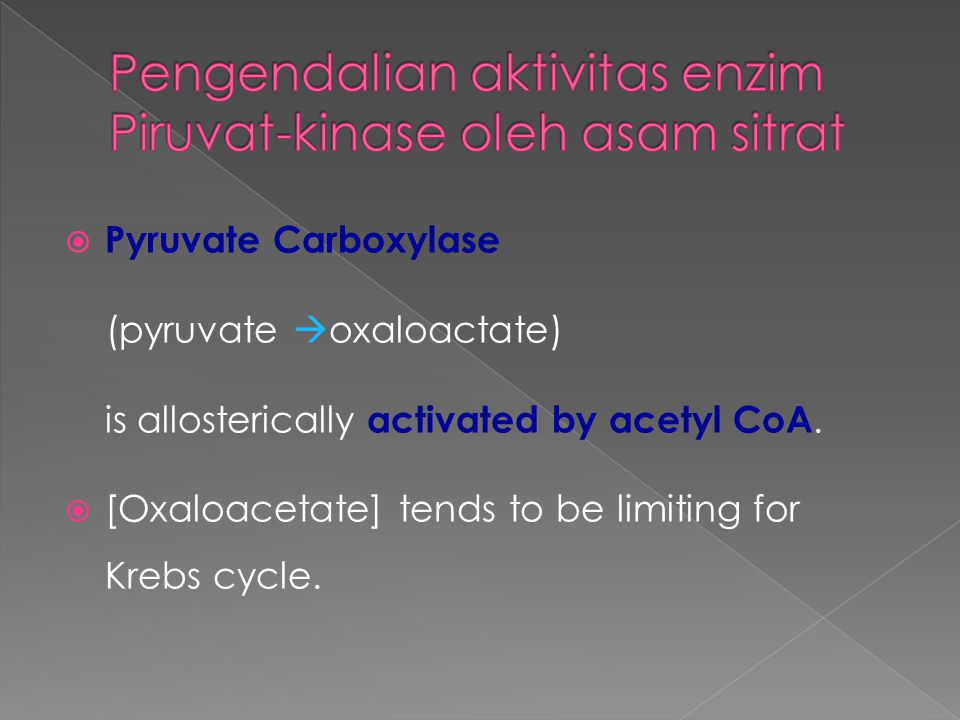 Pengendalian aktivitas enzim Piruvat-kinase oleh asam sitrat