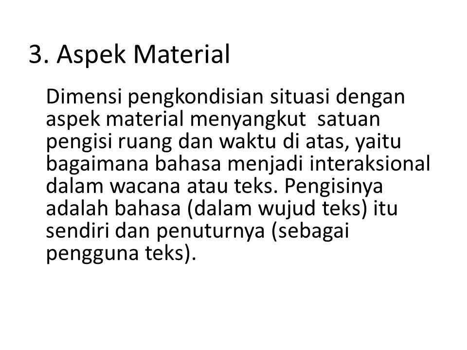 3. Aspek Material