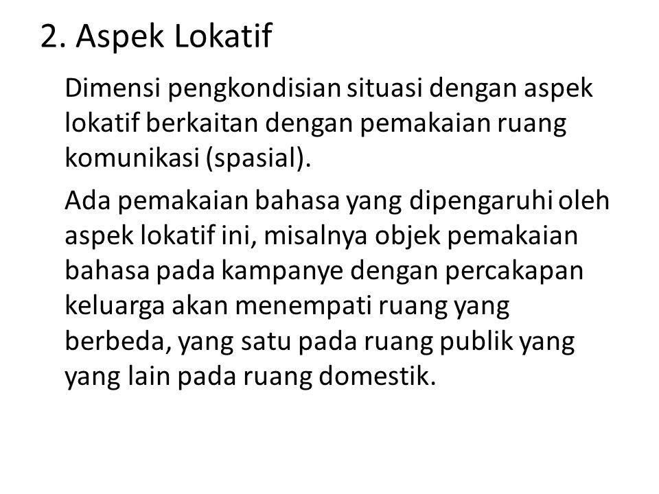 2. Aspek Lokatif