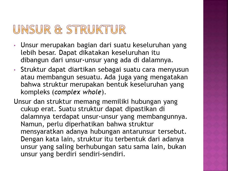 UNSUR & STRUKTUR