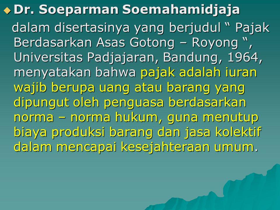 Dr. Soeparman Soemahamidjaja