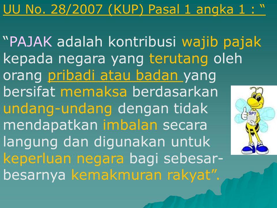 UU No. 28/2007 (KUP) Pasal 1 angka 1 :