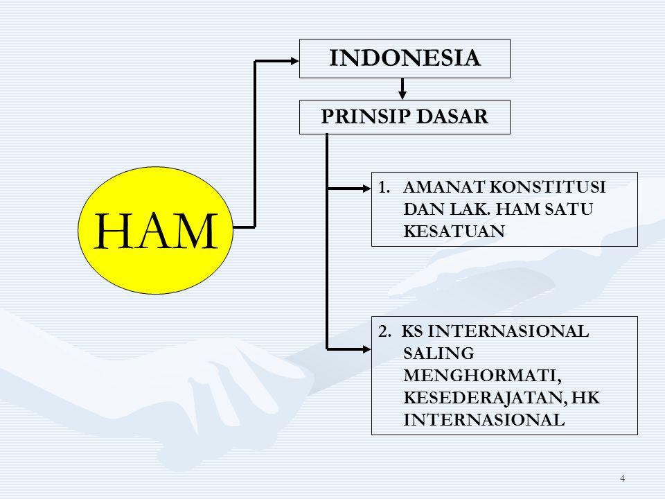 HAM INDONESIA PRINSIP DASAR