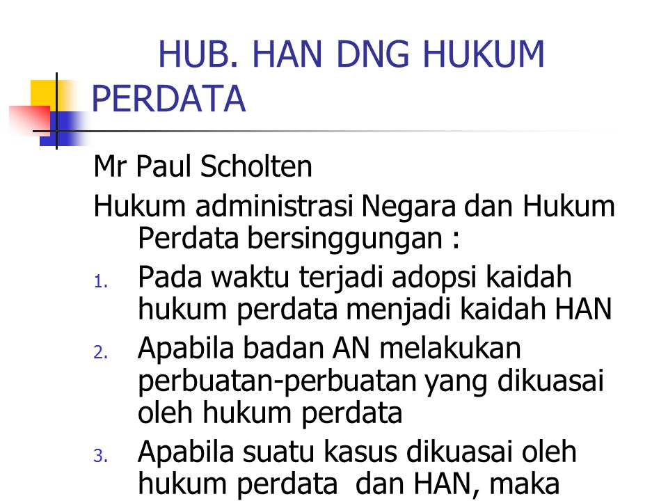 HUB. HAN DNG HUKUM PERDATA