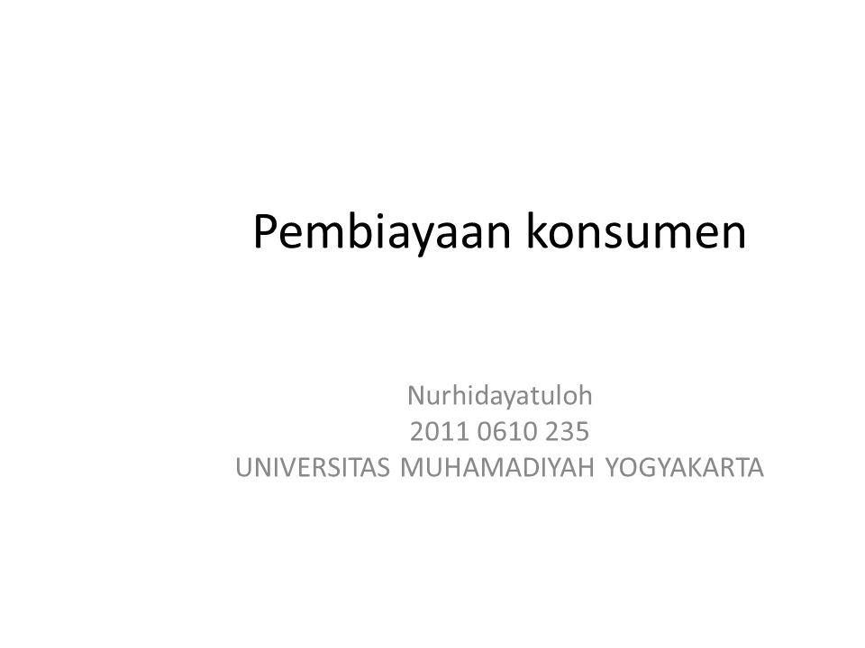 Nurhidayatuloh 2011 0610 235 UNIVERSITAS MUHAMADIYAH YOGYAKARTA