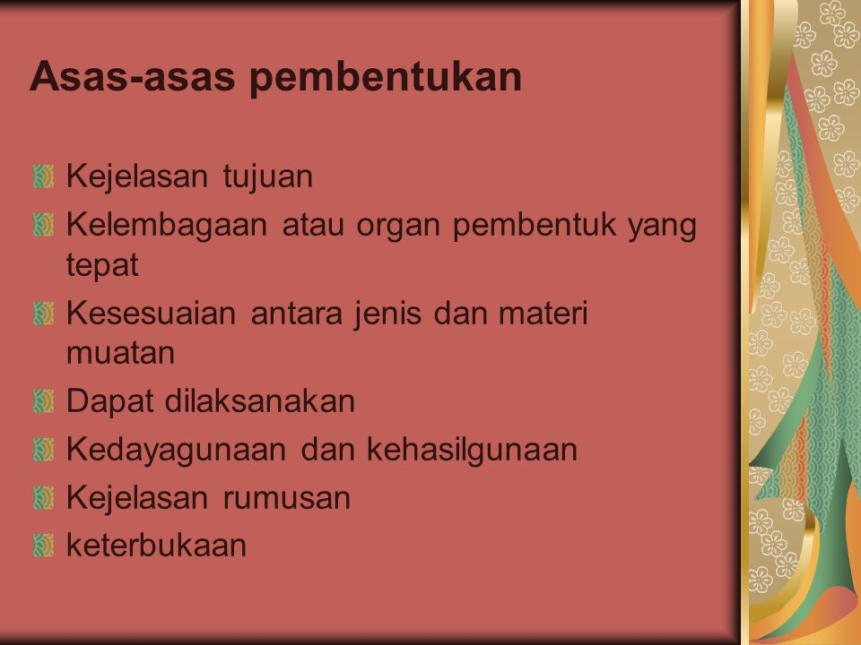 Asas-asas pembentukan
