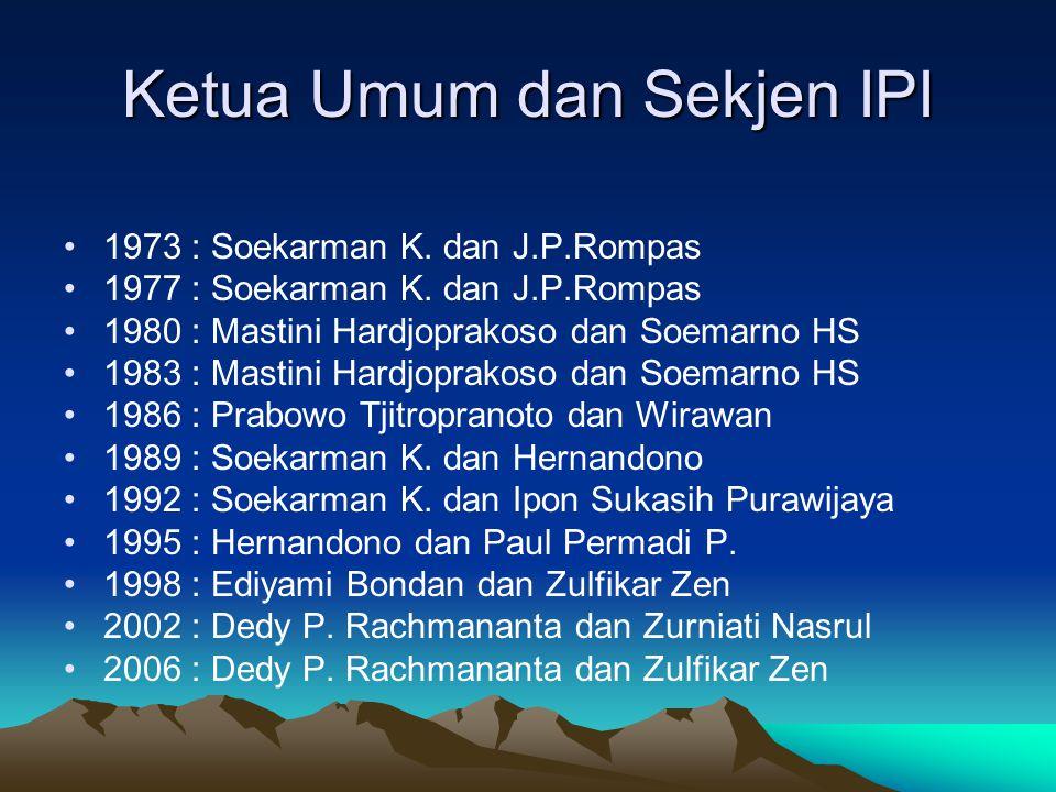 Ketua Umum dan Sekjen IPI
