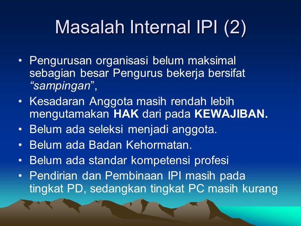 Masalah Internal IPI (2)