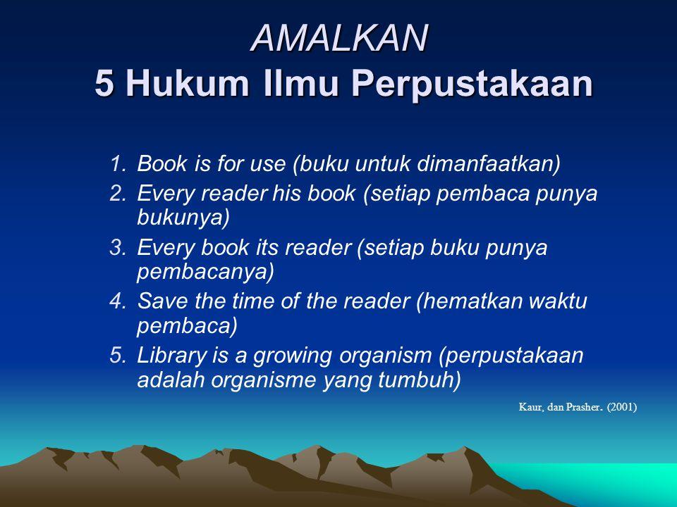 AMALKAN 5 Hukum Ilmu Perpustakaan