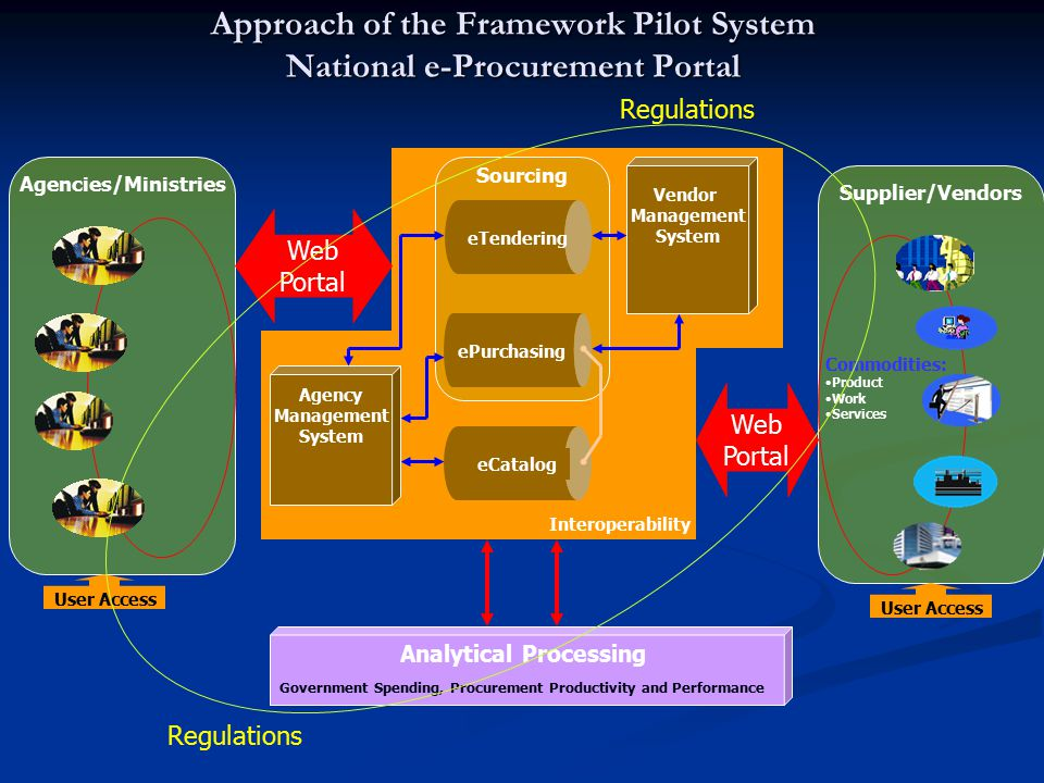 Approach of the Framework Pilot System National e-Procurement Portal