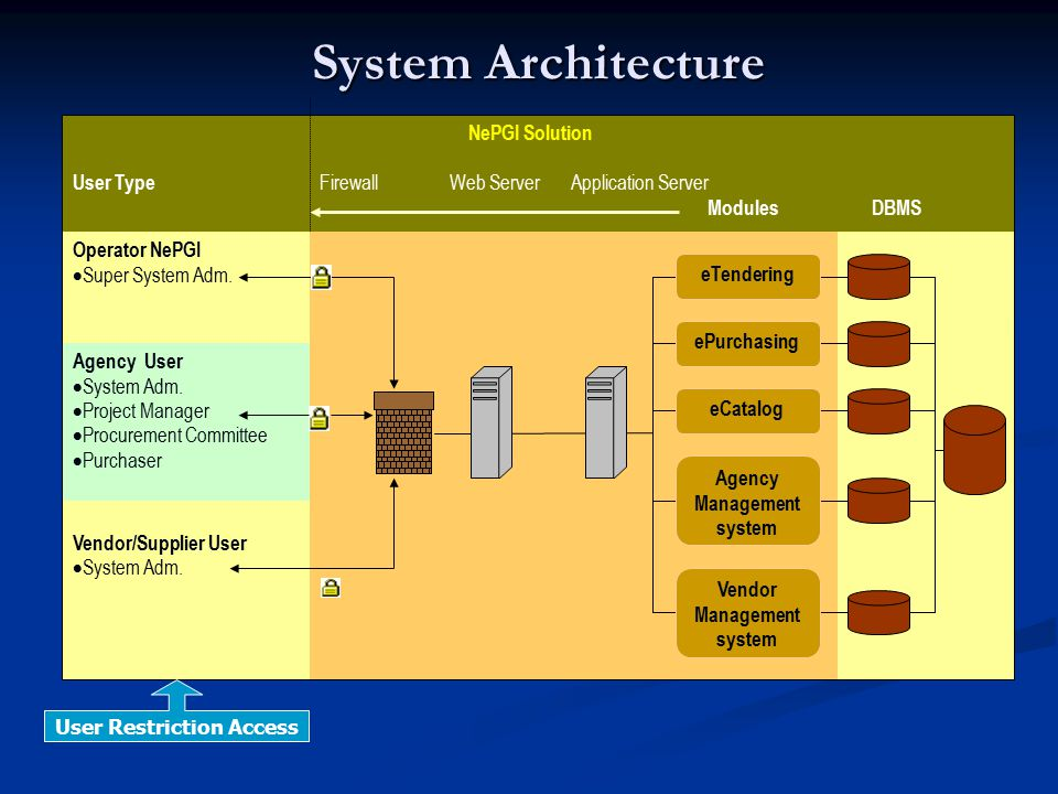 System Architecture NePGI Solution