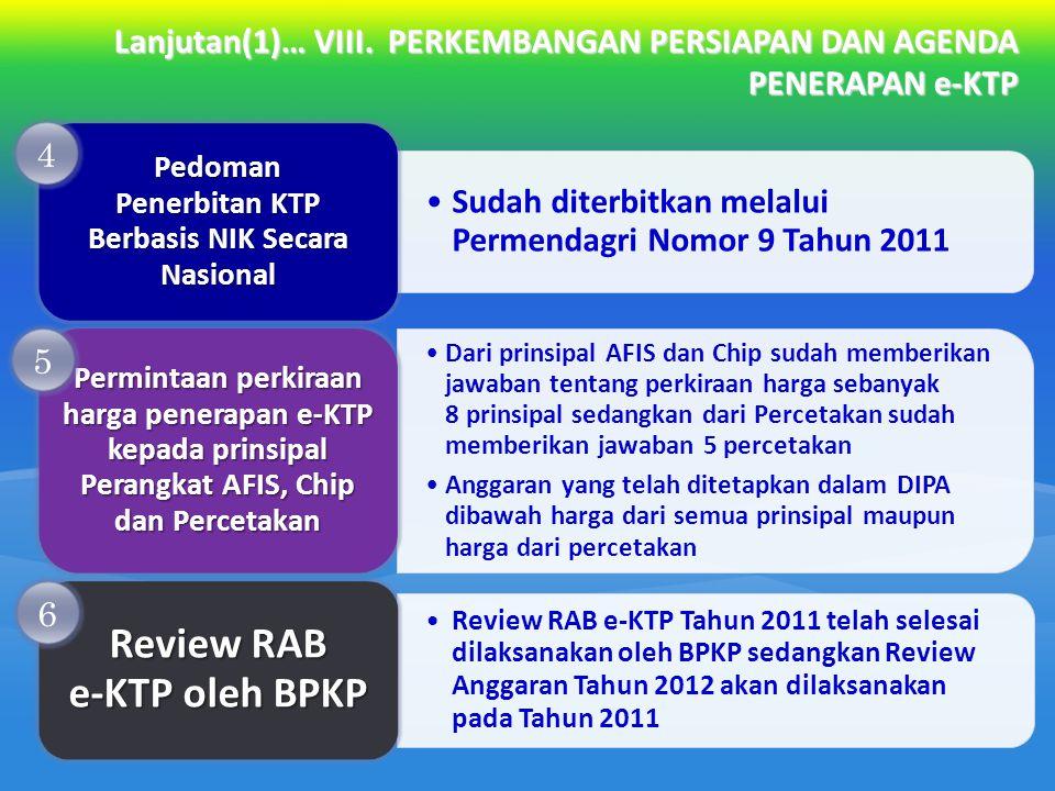 Review RAB e-KTP oleh BPKP