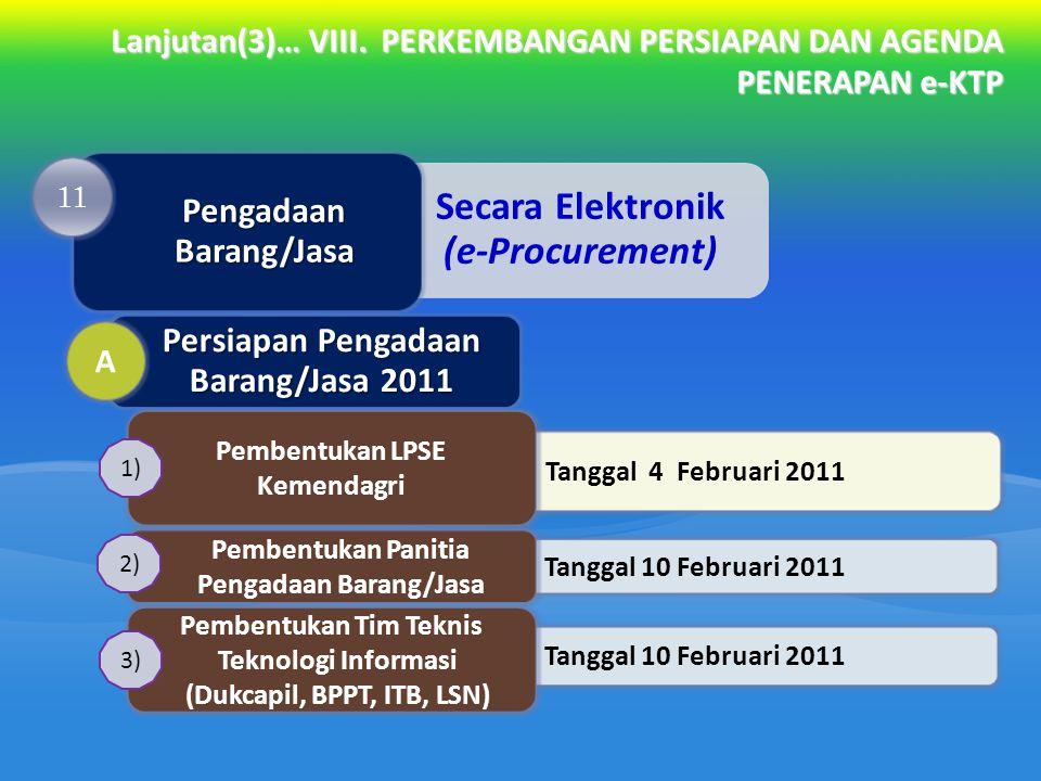 Pengadaan Barang/Jasa Persiapan Pengadaan Barang/Jasa 2011