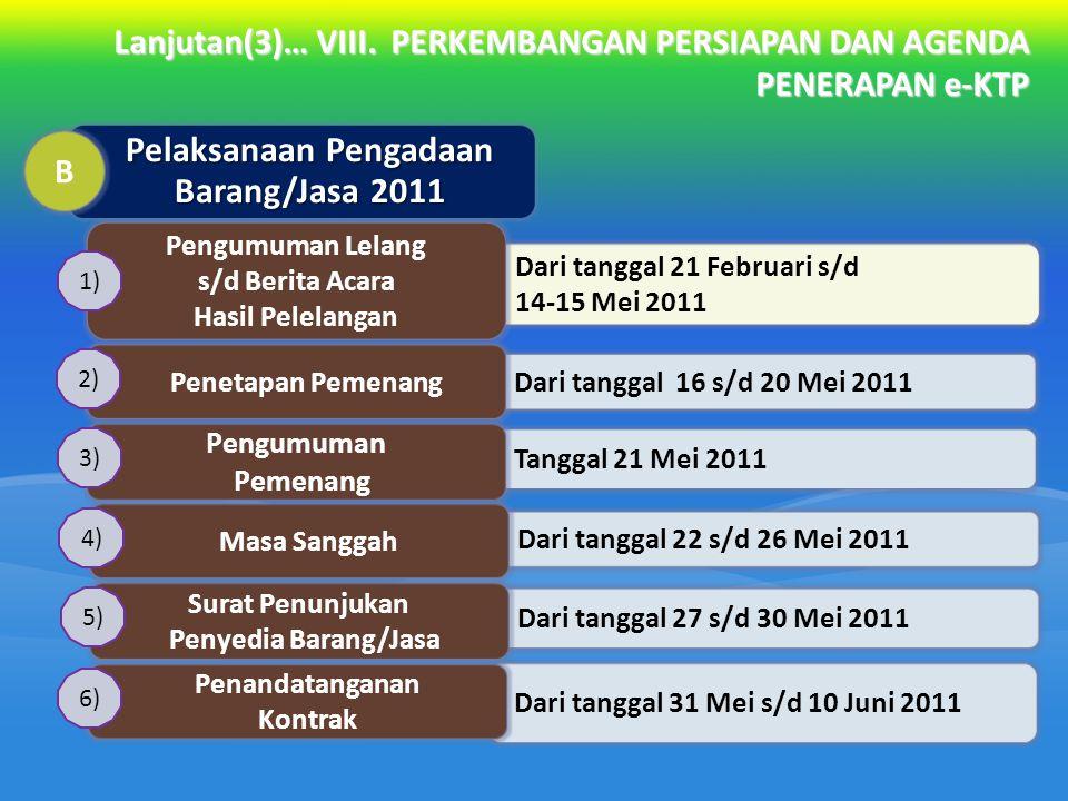 Pelaksanaan Pengadaan Barang/Jasa 2011