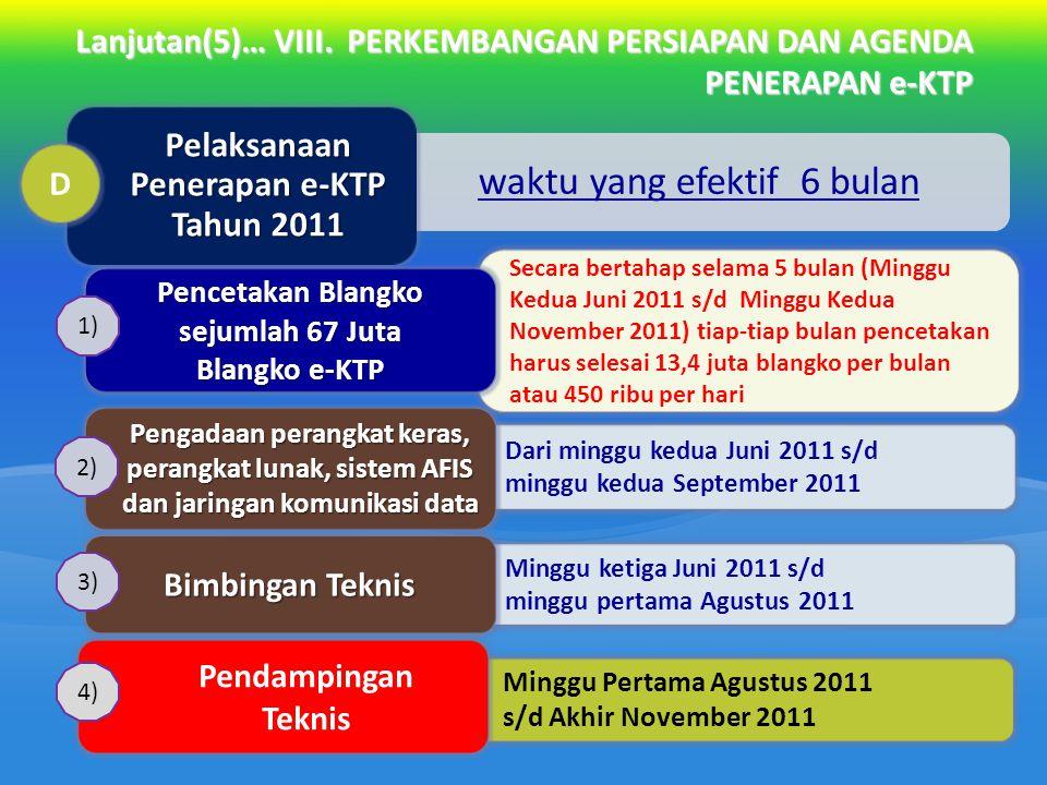 Pelaksanaan Penerapan e-KTP Tahun 2011