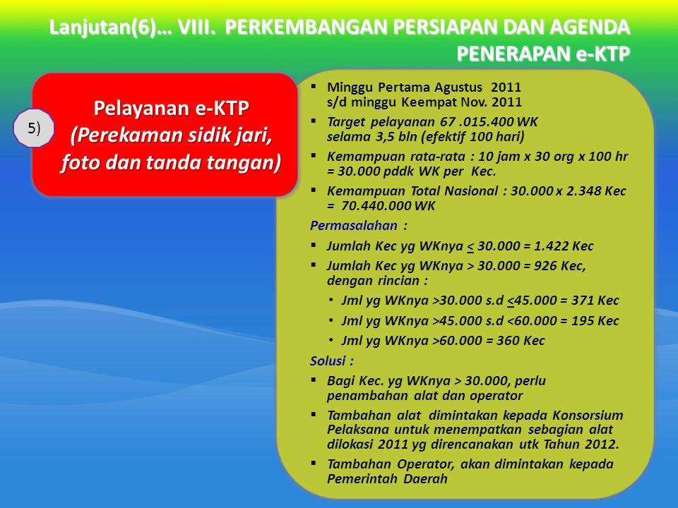 Pelayanan e-KTP (Perekaman sidik jari, foto dan tanda tangan)