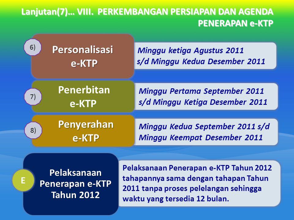 Pelaksanaan Penerapan e-KTP Tahun 2012