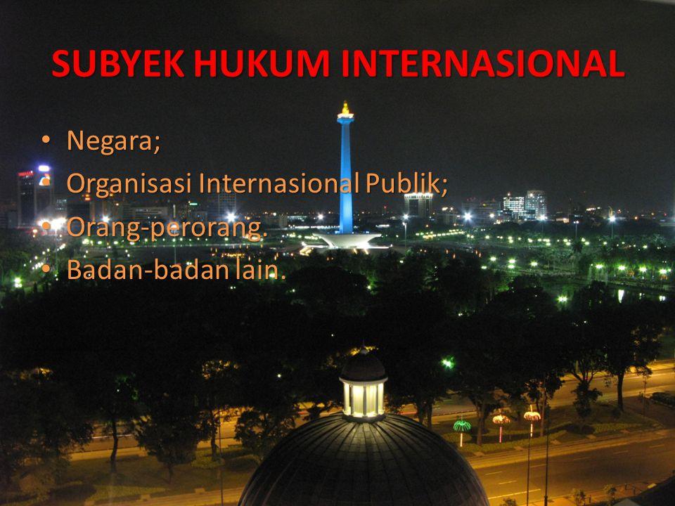SUBYEK HUKUM INTERNASIONAL