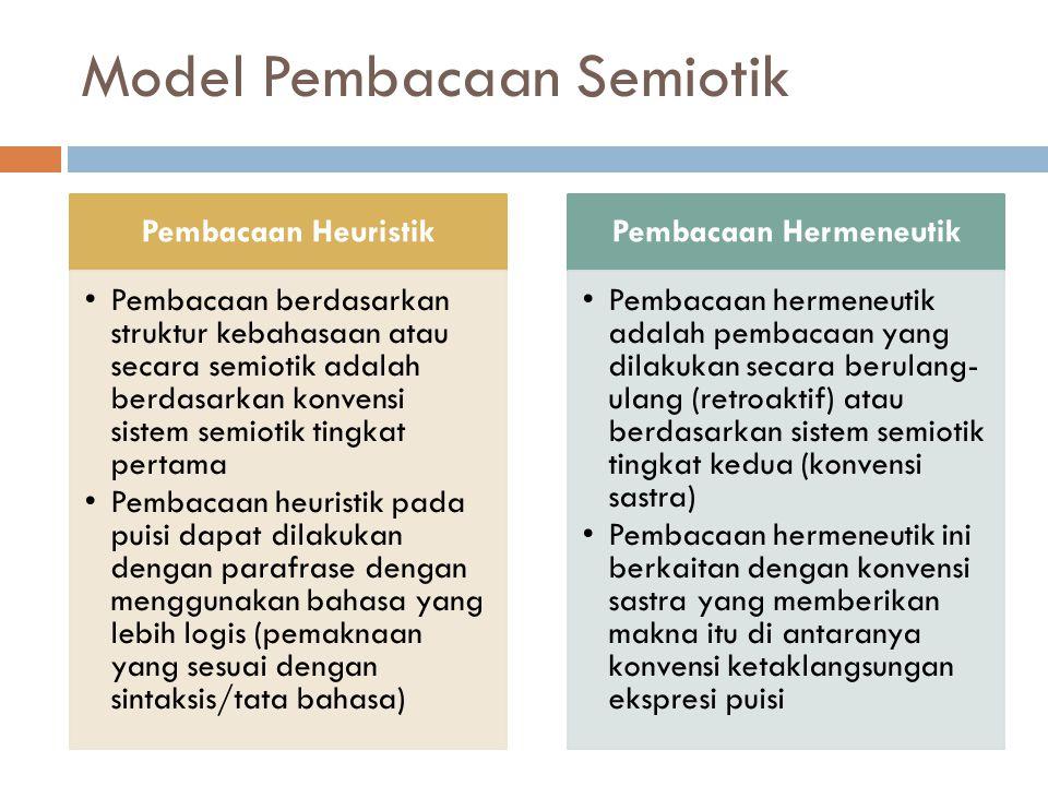 Model Pembacaan Semiotik