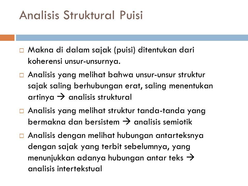 Analisis Struktural Puisi