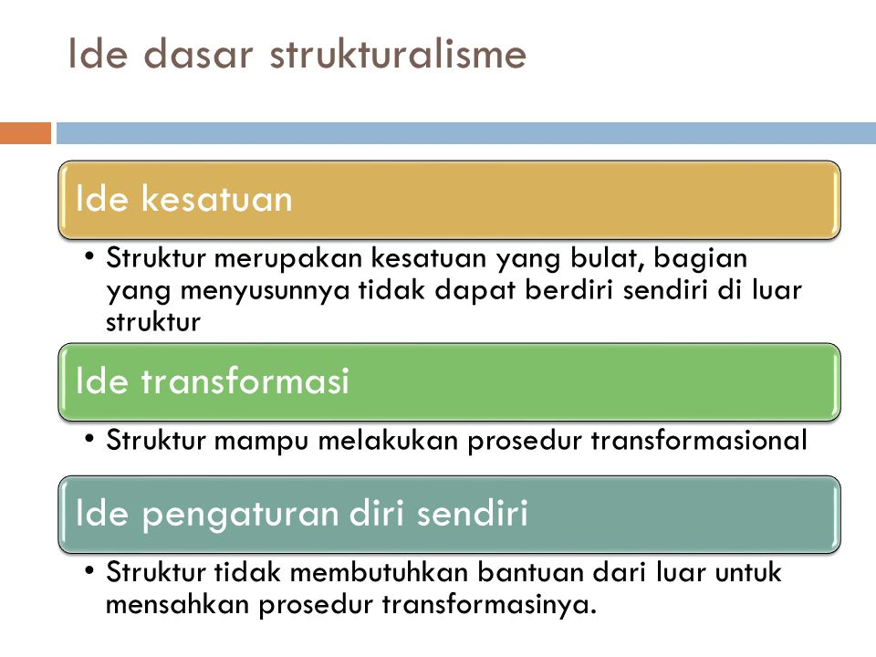 Ide dasar strukturalisme