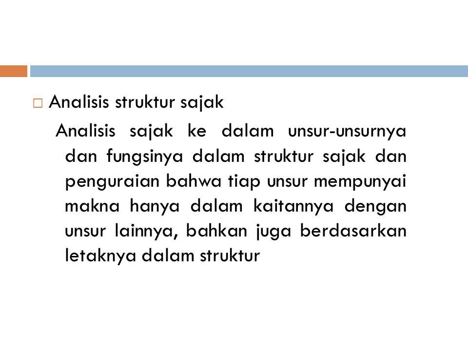 Analisis struktur sajak