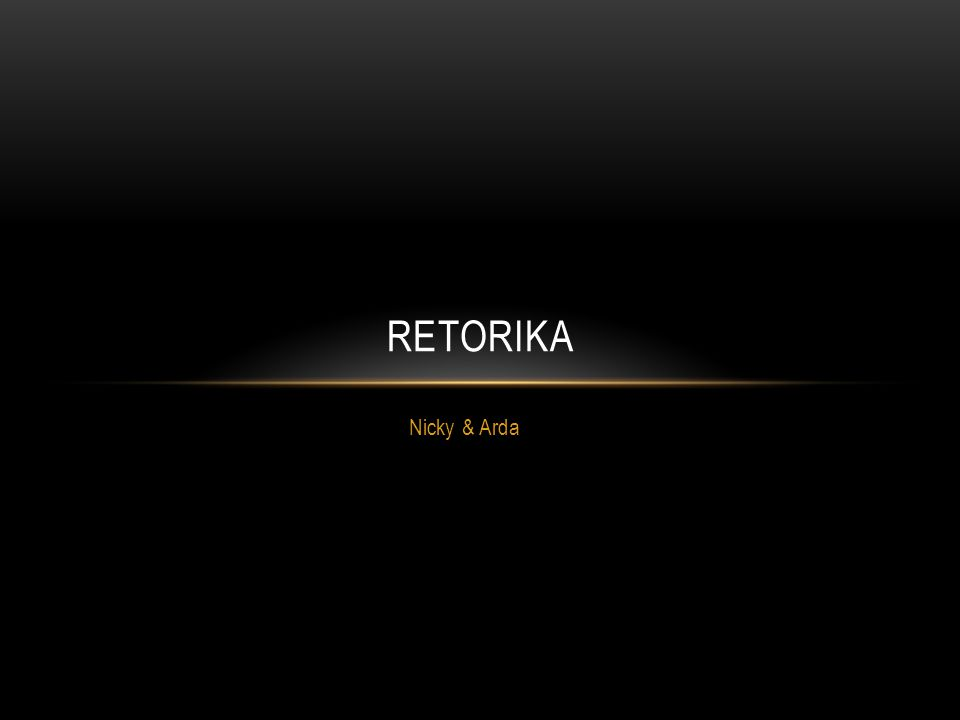 Retorika Nicky & Arda