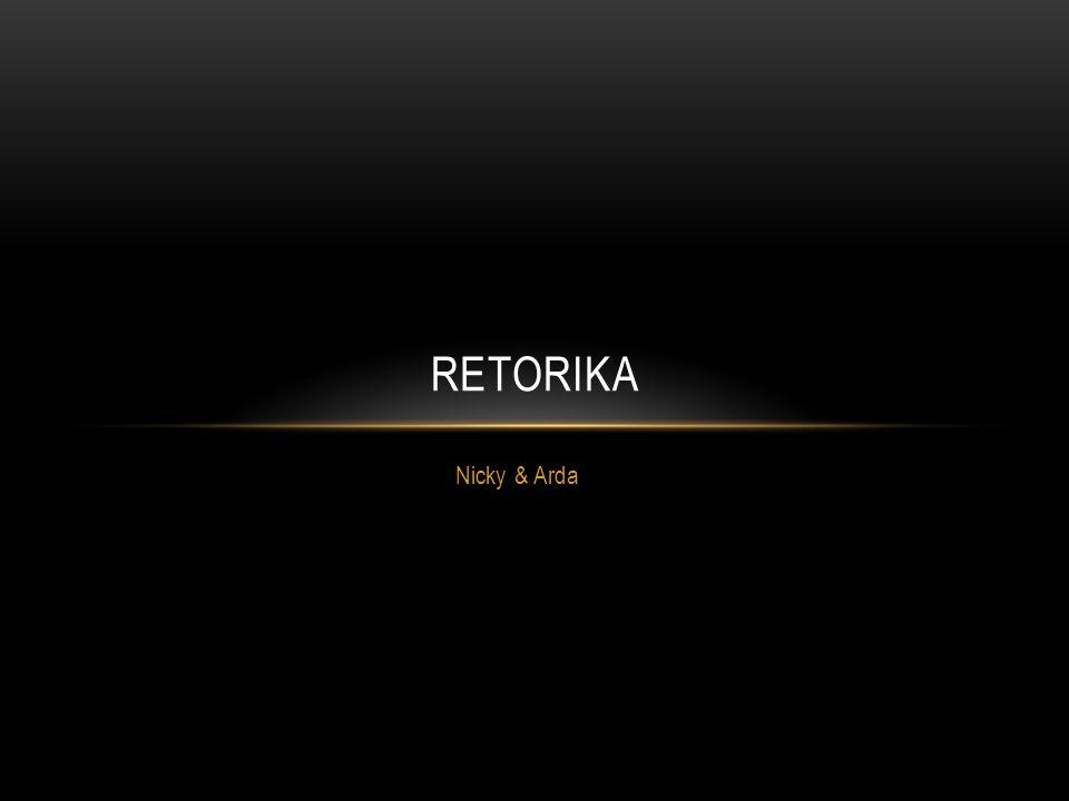Retorika Nicky & Arda