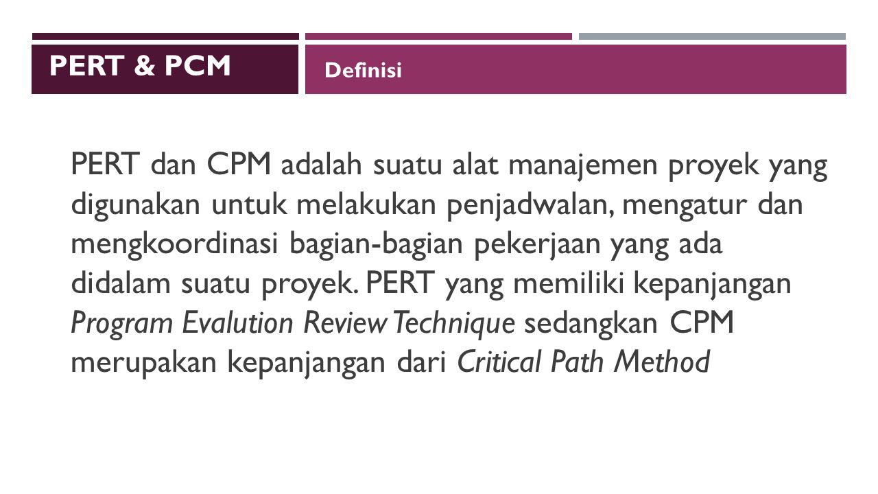 PERT & PCM Definisi.
