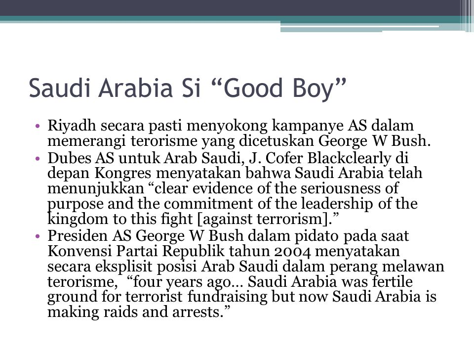 Saudi Arabia Si Good Boy