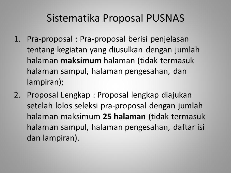 Sistematika Proposal PUSNAS