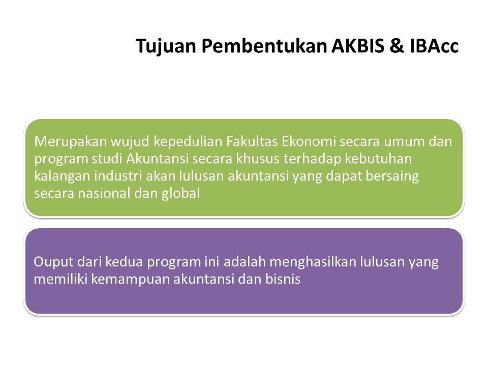 Tujuan Pembentukan AKBIS & IBAcc