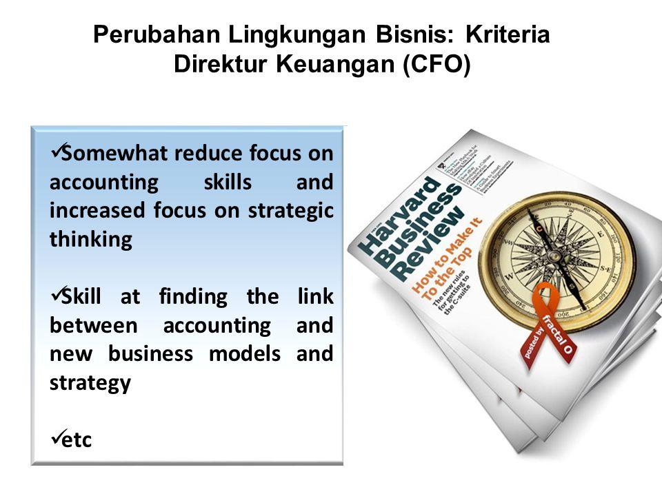 Perubahan Lingkungan Bisnis: Kriteria Direktur Keuangan (CFO)
